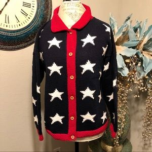 Cotton Salsa hand loomed patriotic sweater